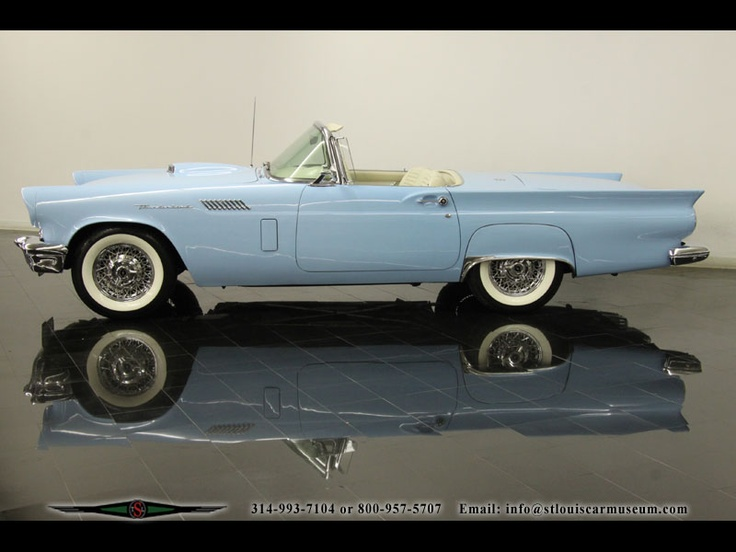 Audi St Louis >> 1957 Ford Thunderbird Convertible 312ci V8 | cars | Pinterest | Ford thunderbird, Convertible ...