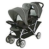 Double strollers come in all shapes and sizes. There Tandem strollers,side by side strollers etc. See our reviews for the best double strollers to buy.