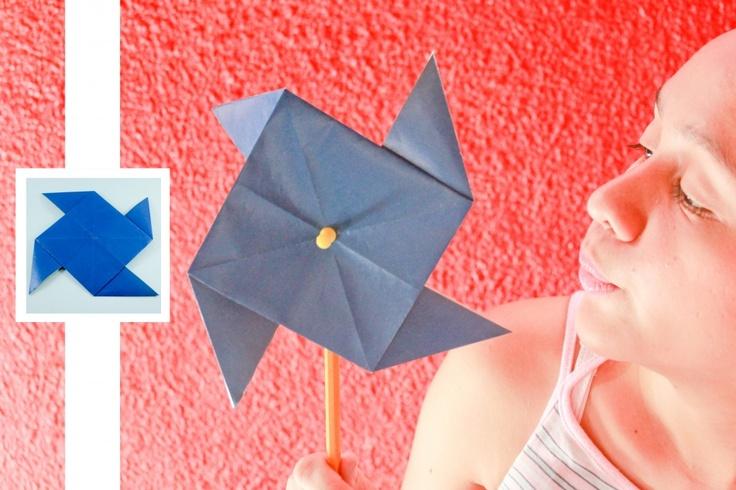 DIY Origami Pinwheel