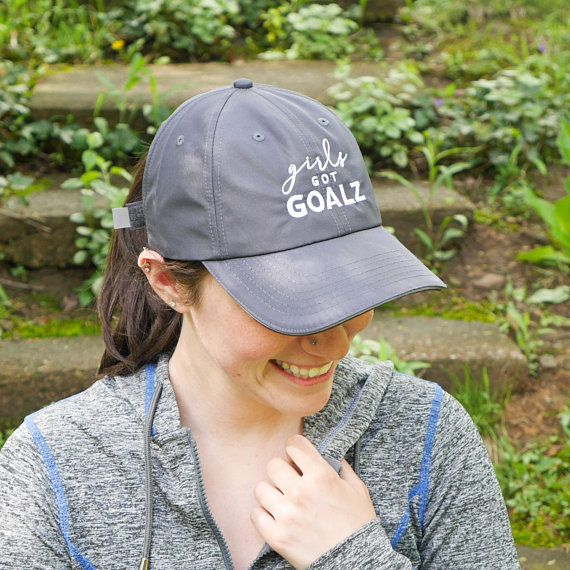 Girls Got Goalz Gray Workout Hat Running Hat Fitness Hat f4ffa7c6cef