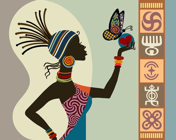 African Woman Art Afrocentric Art Afrocentric Decor by iQstudio, $15.00