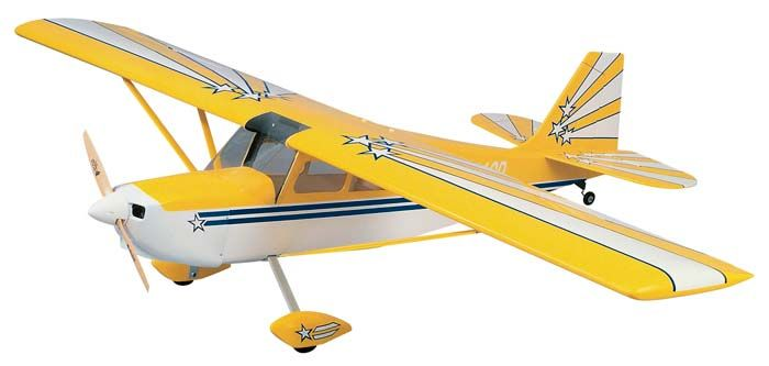 """Great Planes Dynaflite Giant Super Decathlon Kit 89"""" Sold through Towerhobbies.com for $179.99 Second choice after top flite P-51D Mustang Link http://www3.towerhobbies.com/cgi-bin/wti0001p?=LXYXJ7=0 Towerhobbies generally has different Coupon codes that will be displayed on their homepage."""