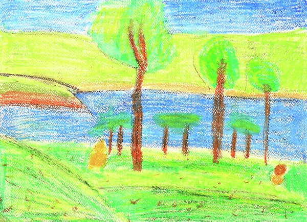 childrens paint summer nature greeting card for sale by sujin jetkasettakorn - Painting For Childrens