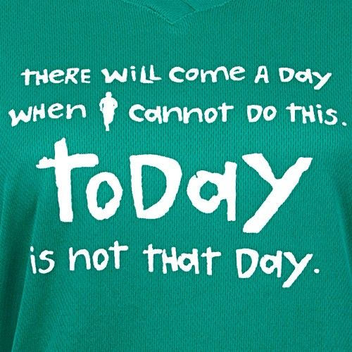 """One More Mile """"Not the Day"""" Long Sleeve V-Neck Tee Lady : Running Apparel - Running: Holabird Sports"""