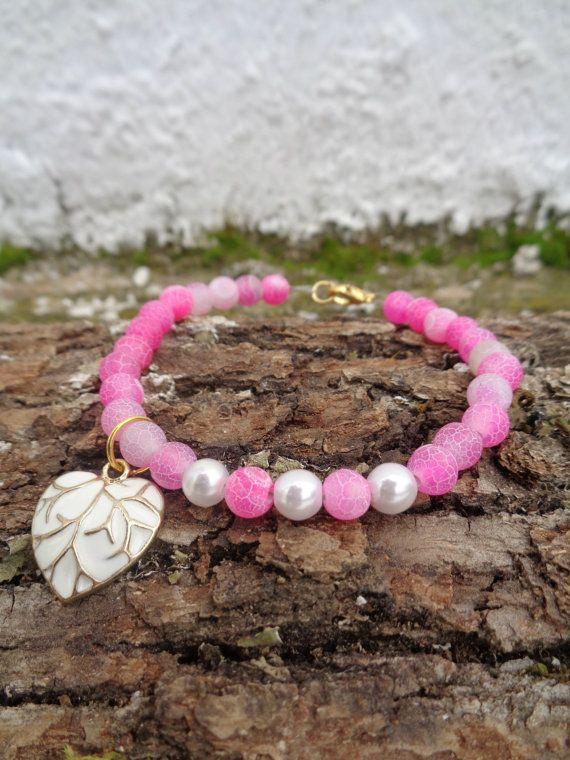 Pink love OOAK friendship bracelet / Bohemian bracelet / Summer bracelet/ jade beaded bracelet / semiprecious/ Ethnic bracelet