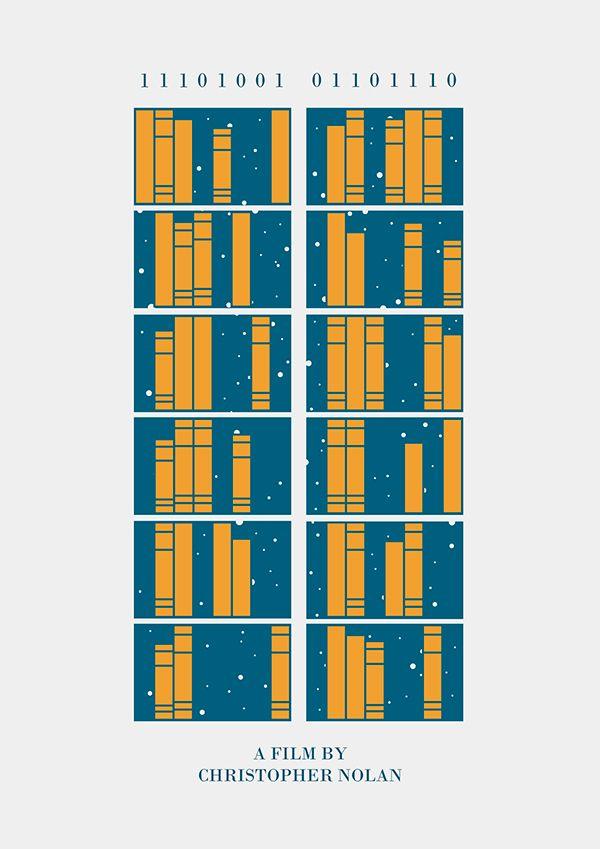 'Interstellar' fan movie poster. The title is written in binary code.