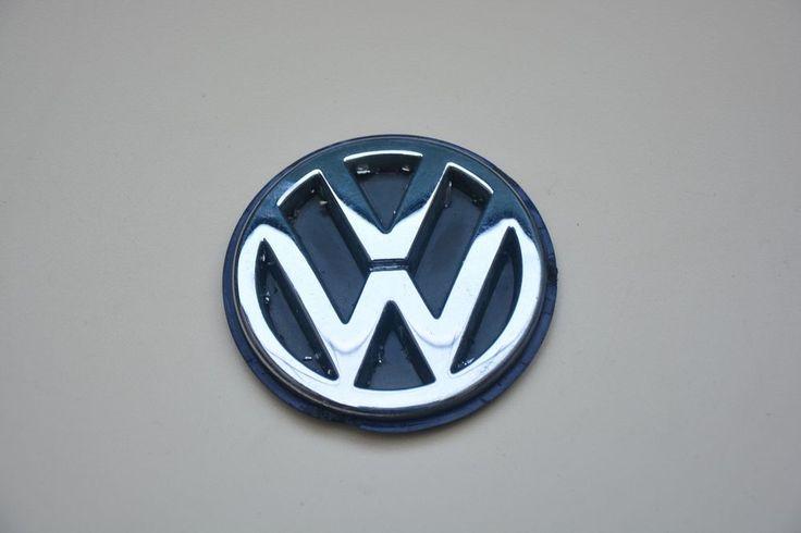 USED VW EMBLEM JETTA CAR LOGO VOLKSWAGEN PLASTIC SIGN ORIGINAL BADGE 80mm #VW
