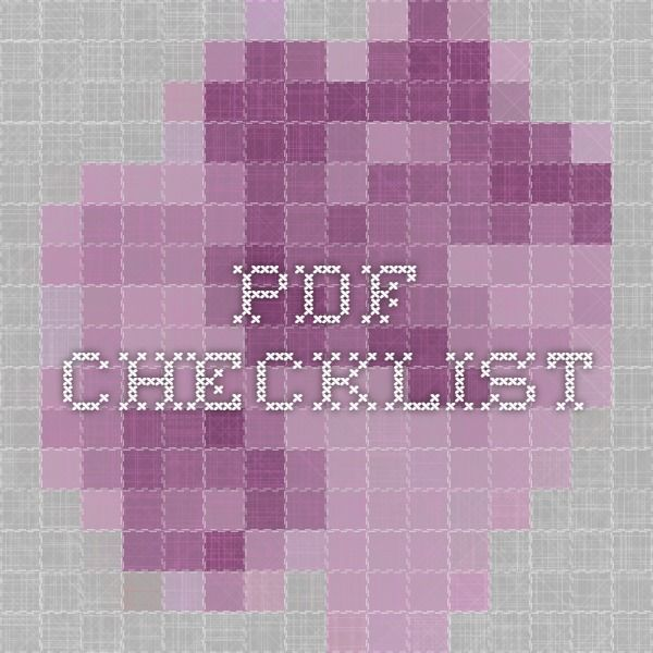 pdf checklist