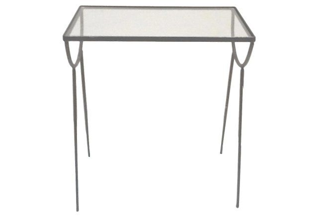 Midcentury Iron Side Table