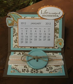 Sweet easel card calendar - perfect for your office desk or would also make a cute gift!