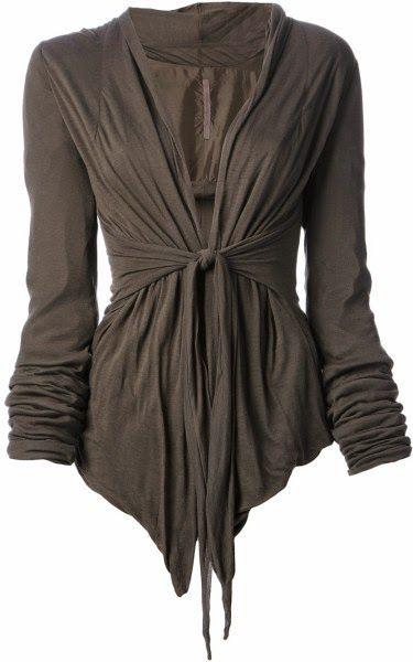 The Vogue Fashion: Dark Gray Wrap Up Cardigan
