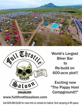 """Full Throttle Saloon Press Release..... FULL THROTTLE SALOON PROPRIETORS MICHAEL & ANGIE BALLARD AND PARTNER JESSE JAMES DUPREE TO RE-BUILD FULL THROTTLE SALOON ON NEW 600 ACRE PLOT MONTHS AFTER FIRE DESTROYED LANDMARK LOCATION PLANS ANNOUNCED TO NAME FACILITY """"THE PAPPY HOEL CAMPGROUND"""" HONORING THE FOUNDER OF THE STURGIS RALLY NOW IN ITS 76TH YEAR Trio Begin Taking RV, Camper and Cabin Rentals As They Break Ground This Week TED NUGENT, ZAKK WYLDE AND JACKYL ANNOUNCED AS HEADLINERS The…"""