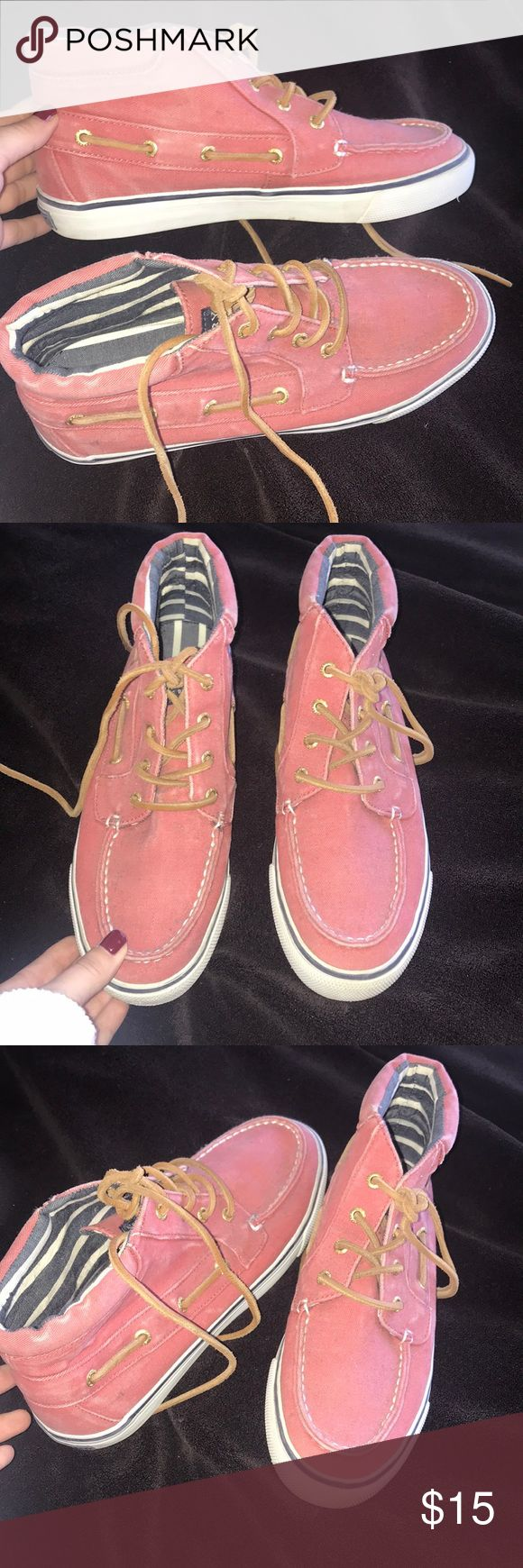 Sperry high tops Rusted pink sperrys Sperry Shoes Flats & Loafers