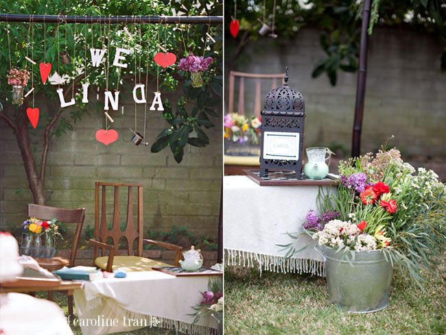 Bridal shower decoration themes they did all the decor for Outdoor wedding bathroom ideas