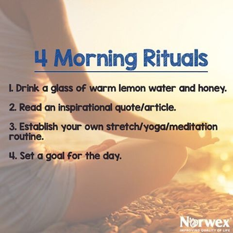 Setting good habits in the morning leads to a better day, helps improve careers, marriages and overall wellbeing!