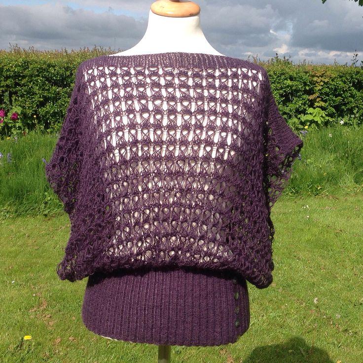 Top strikket i Rowan Fine Lace. Eget mønster.
