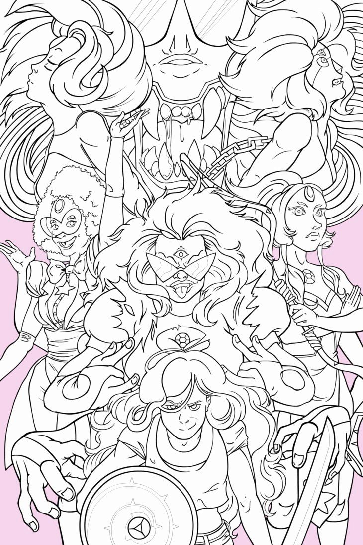 Steven Universe Coloring Book Best Of Steven Universe Gem Fusion Poster Inks By Empty Brooke Coloring Books Debbie Macomber Coloring Book Steven Universe
