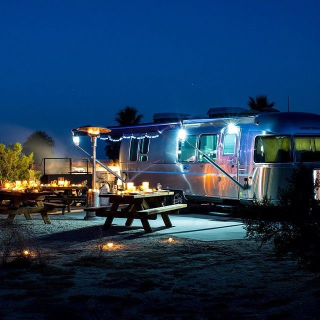 When you go #glamping, go all out. #travel #Airstream