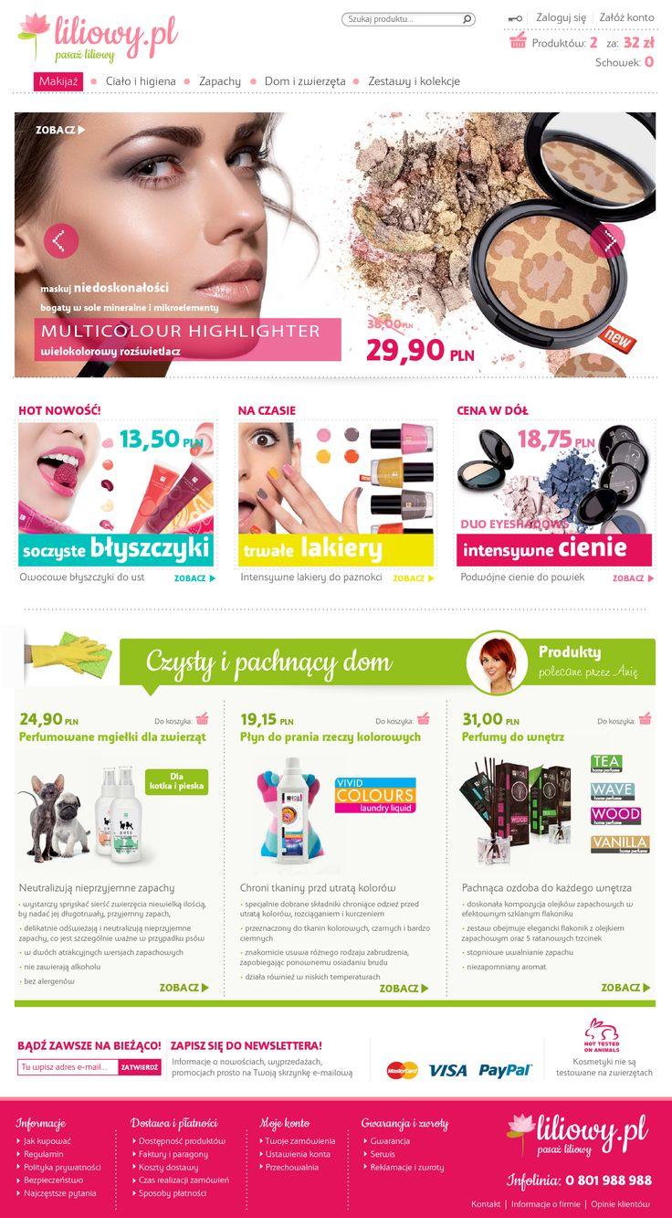 Shop for a cosmetic company | Design: www.pinkelephant.pl /web design /layout /portfolio /web /design /logo /shop