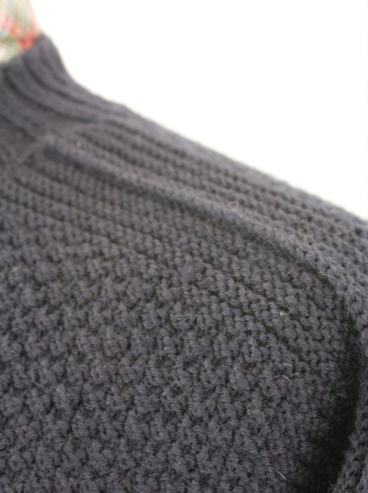 Gansey Pattern - Scarborough Gansey - Fisherman's Sweater by Wayside Flower. Beautiful, crisp shoulder finishes