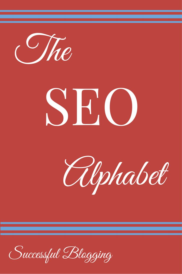The SEO Alphabet [Infographic]