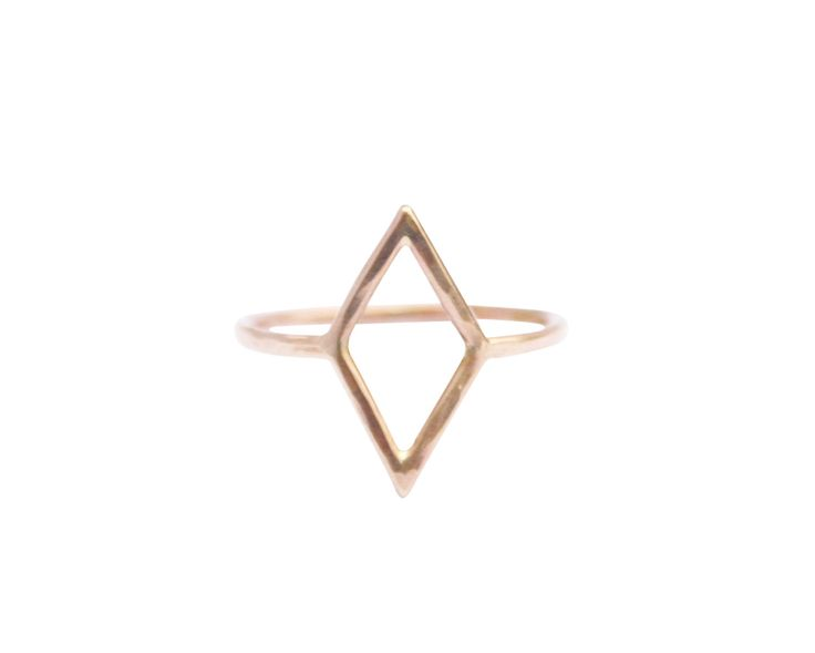 Thin Gold Diamond Shape Ring, Thin Gold Ring, Simple Gold Ring, Geometric Shape Ring, Pinky Ring, Midi, Knuckle Ring by StefanieSheehan on Etsy https://www.etsy.com/listing/116831454/thin-gold-diamond-shape-ring-thin-gold