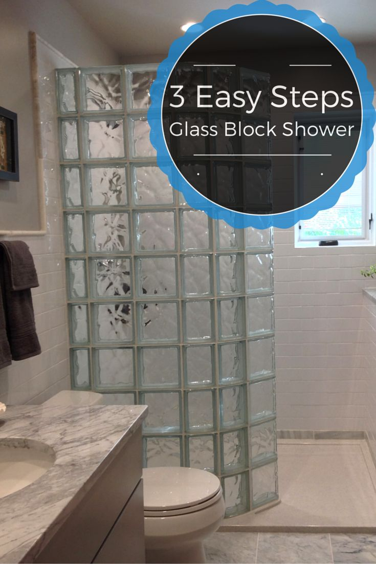 Glass block bathroom bathroom - 3 Easy Steps For A Glass Block Shower Learn How To Make The Shower Base