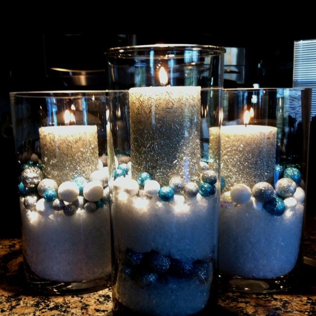 cylinder vases 1199ea candles 539ea glitter balls 499bag fake - Fake Snow Decoration