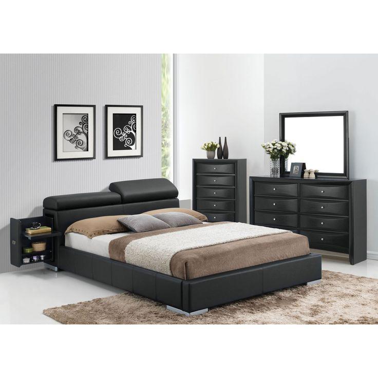 dimora bedroom set%0A Acme Furniture Manjot  Piece Black Bedroom Set  Eastern King