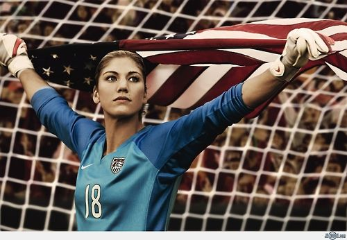 Hope Solo | USA Soccer Goal Keeper. So wanna be like her one day