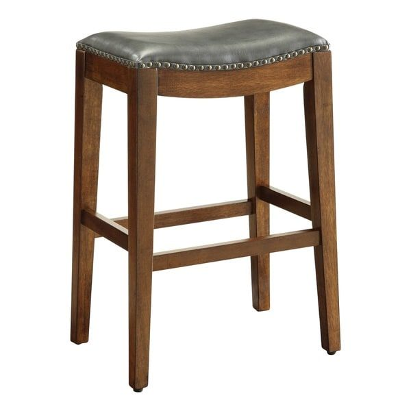 Copper Grove Five Bridge 29 Inch Saddle Style Bar Stool With Nail