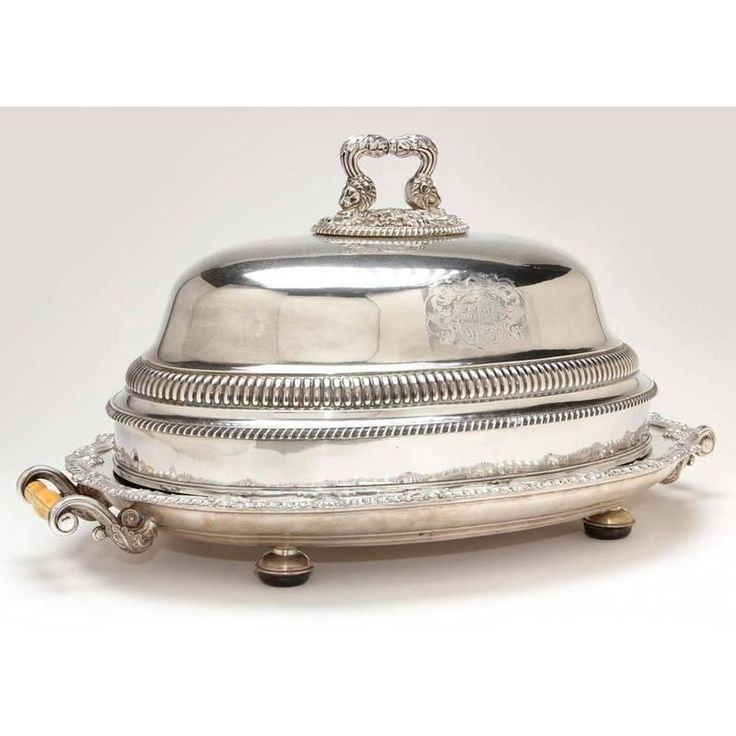 Old Sheffield Plate Roast Warming Dish and Cover  sc 1 st  Pinterest & 141 best Silver Food Domes images on Pinterest | Antique silver ...