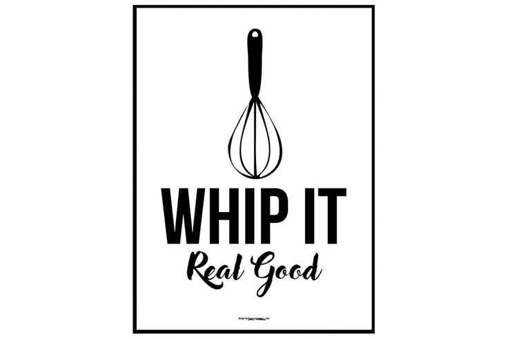 Whip it real good 30x40 cm - | Kodin1.com
