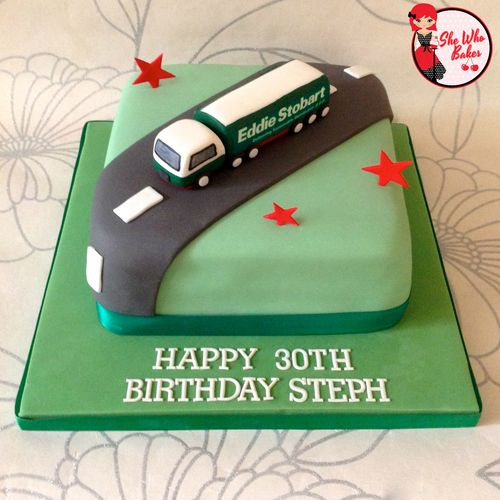Eddie Stobart Lorry Birthday Cake Kods Birthday Ideas