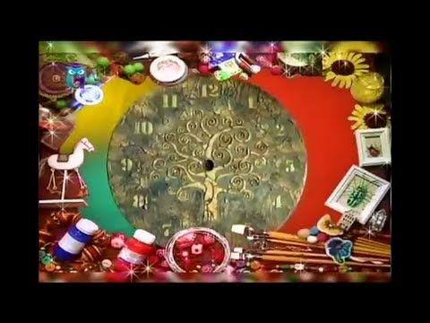Декупаж часов и шкатулки. Используем трафарет, структурные и объёмные па...
