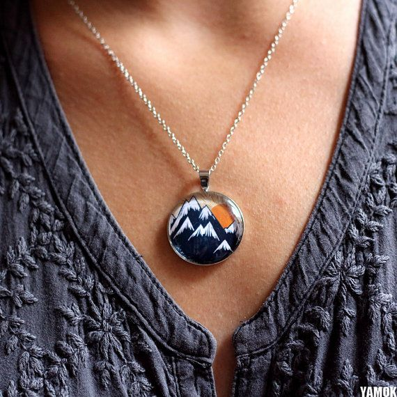 Pendentif montagne - Marion Marty for Yamok