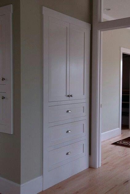 Clean, simple alternative to linen closet