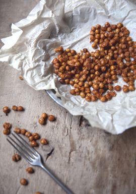 Pois chiches croustillants aux épices & au parmesan