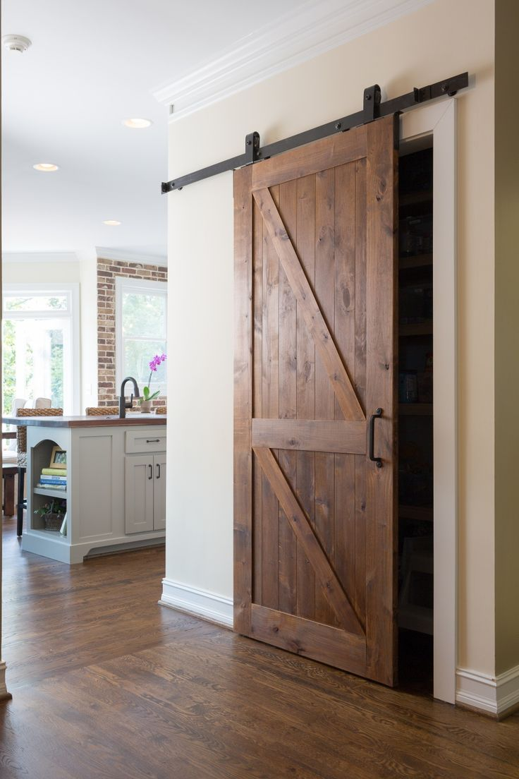 Barn door for pantry.