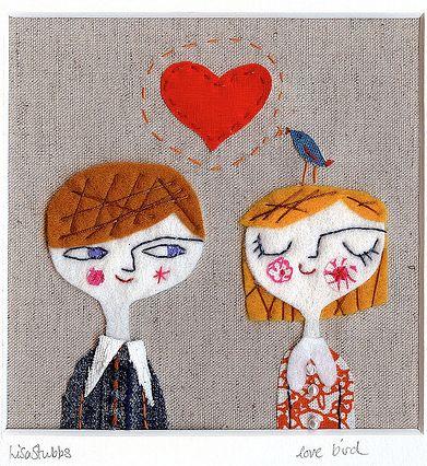 Fabric illustration by Lisa Stubbs, winner of the first Umbrella Prints…
