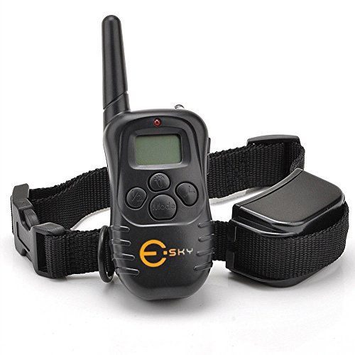 Esky® Rechargable LCD Remote Control Dog Training Shock Collar with 100 Level Shock and Vibration