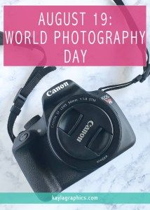 World Photography Day is August 19. According to timeanddate.com, Australian photographer Korske Ara created World Photography Day in 2009.