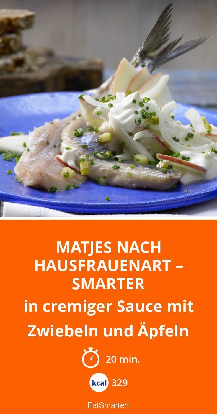 Matjes nach Hausfrauenart – smarter - in cremiger Sauce mit Zwiebeln und Äpfeln - smarter - Kalorien: 329 Kcal - Zeit: 20 Min.   eatsmarter.de
