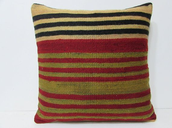kilim pillow 24x24 big pillow cover oversized throw pillow 24x24 pillow case antique pillow sham oversized couch pillow chair cushion 24903