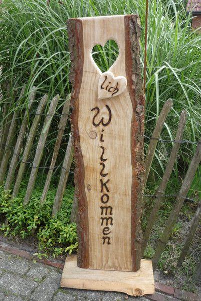 ♥lich Willkommen ♥ Türschild ♥ von Holz- Kreativ auf DaWanda.com