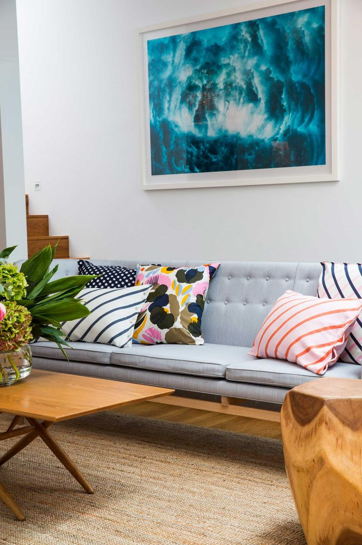 An amazing coastal home is treated to a makeover with Marimekko's spring/summer 2016 collection. Photography by Jacqui Turk.