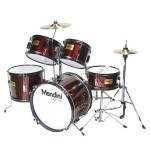Mendini by Cecilio 5-piece junior drum set is a fully functional drum set designed specifically for young drummers. It has all the same features as a full size drum set, only smaller.