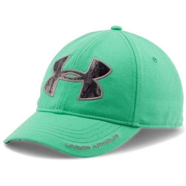 Under Armour Women's UA Caliber Cap ($25) ❤ liked on Polyvore featuring antifreeze, camouflage hats, camouflage caps, adjustable cap, camo cap and camo hat