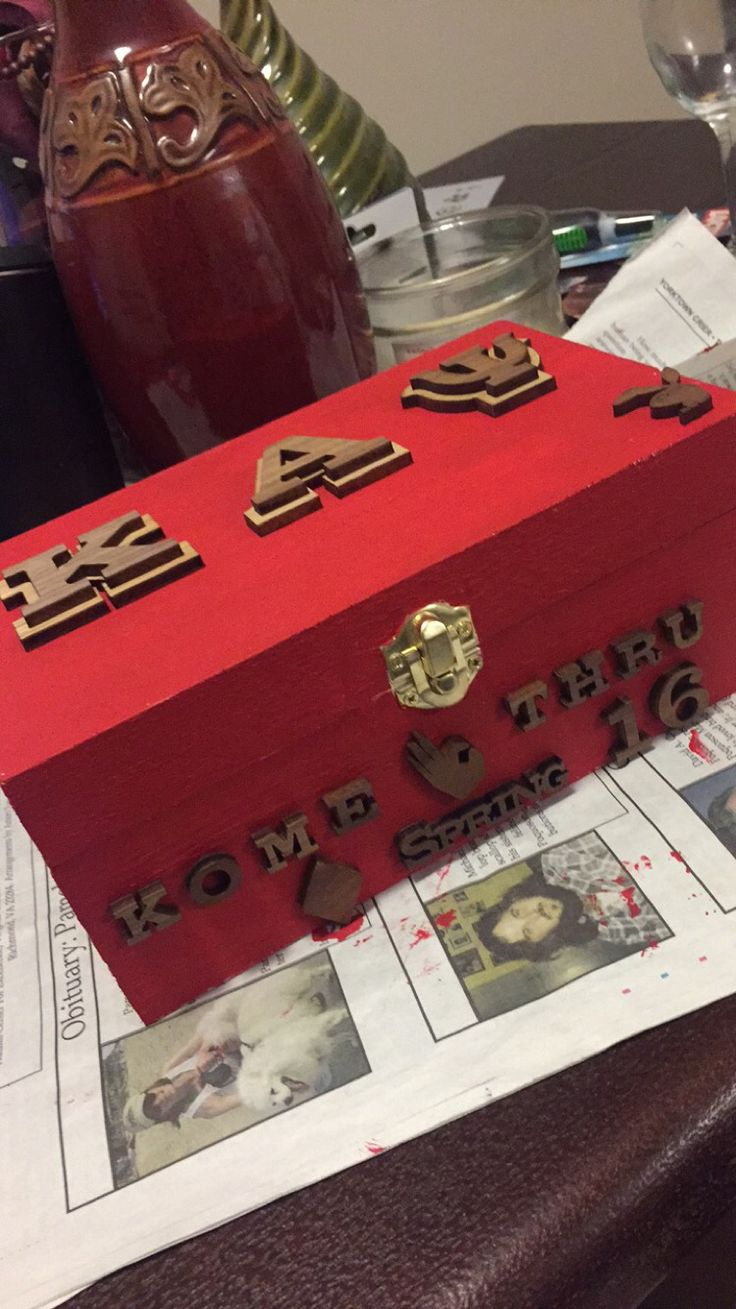 Wooden keepsake box.  Kappa Alpha Psi