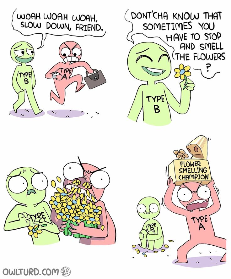 Too funny :P I love this guys comics. Most of the time I'm an A but I'm really not competitive so this doesn't apply besides the fact that I sometimes forget to stop and smell the roses :P